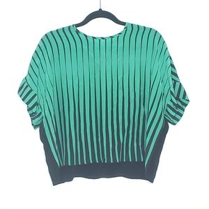ANIMALE green black striped top size 38